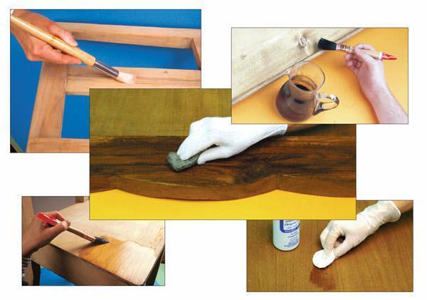 Scurire Mobili Impiallacciati : Colorare il legno