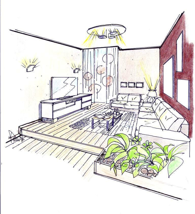 Pedana in casa for Disegno interno casa