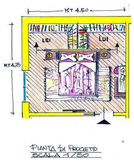 Progetto Cabina Armadio: disegno Antonio Previato
