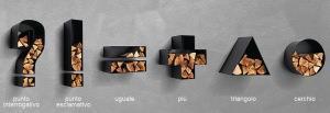 porta-legna symbol di Apros