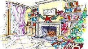 Decorare il camino per Natale