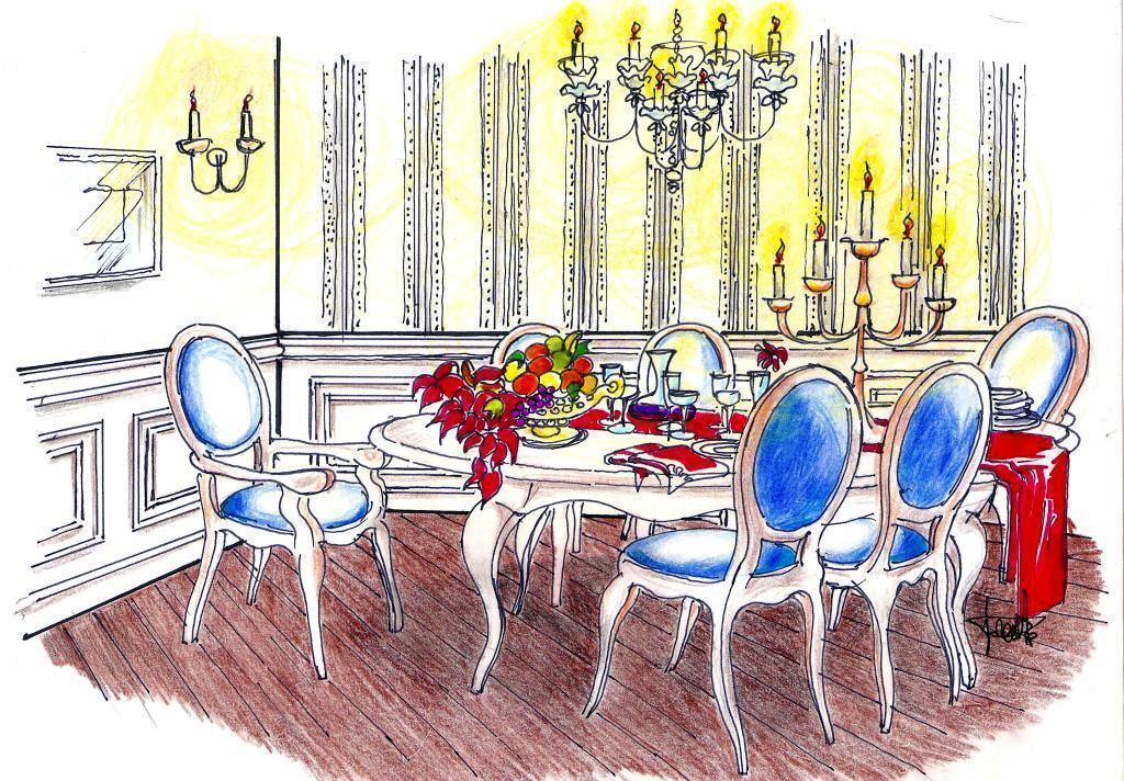 Tavola natalizia in tono con l 39 arredo - Tavolo da disegno con tecnigrafo ...