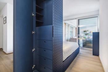 Lugano: part. struttura letto/armadio