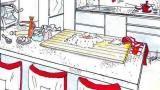 Penisola in cucina