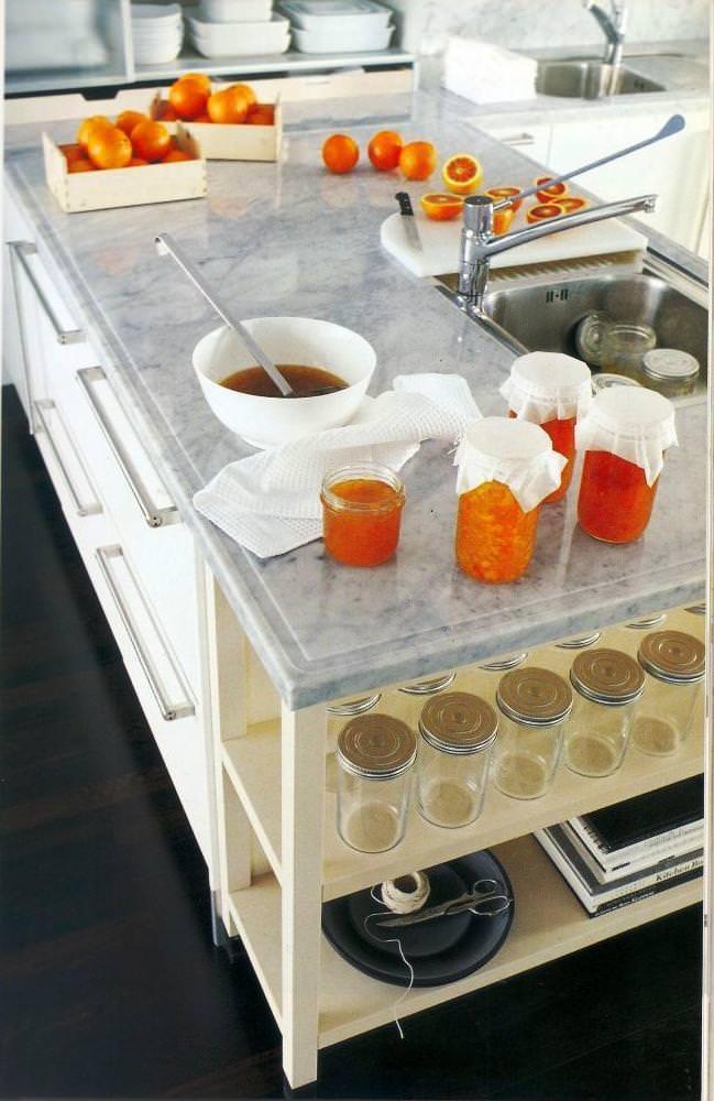 Penisola in cucina - Piano cucina marmo ...