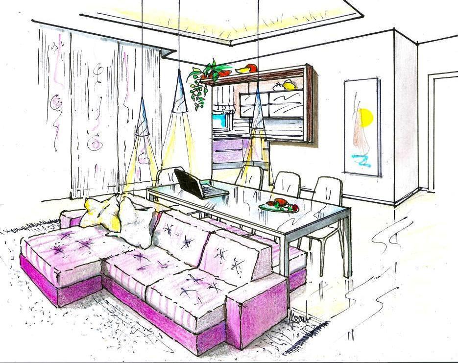 Soggiorno disegno Classico : Il mio disegno illustra questo nuovo modo di concepire larchitettura ...
