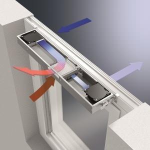 Schuco: schema ventilazione decentralizzata