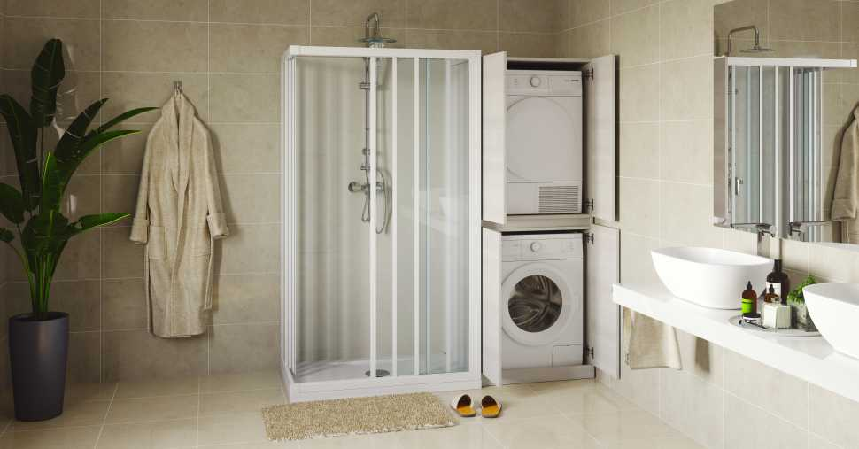 Sostituizione vasca con doccia , mobile salvaspazio