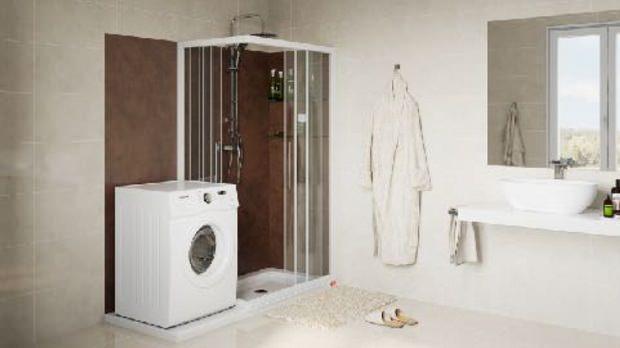 Trasformazione vasca in doccia con soluzione lavatrice