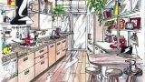 Cucina tra vintage e contemporaneo