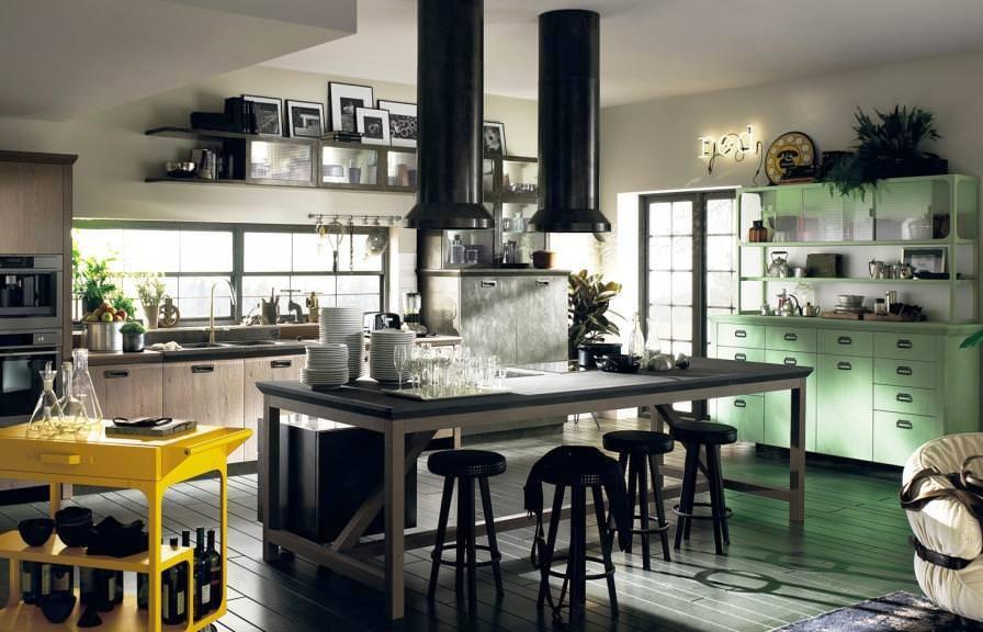 Vintage contemporary kitchen