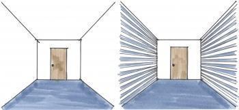Strisce orizzontali su pareti laterali