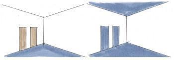 Porte, pavimenti e soffitti nelle stanze grandi