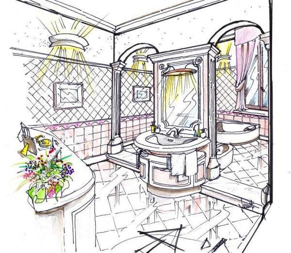 Progetto per bagno classico - Disegnare bagno gratis ...