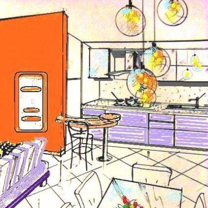Ristrutturare il soggiorno - Cucina particolare ...