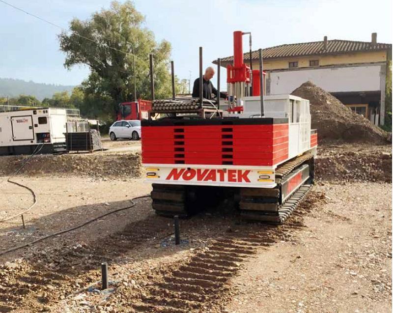 Micropali di fondazione con la tecnologia Track Pile di Novatek