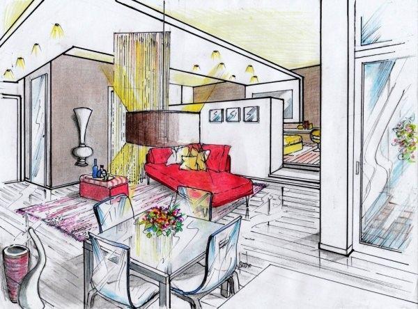 Cucina e soggiorno 35 mq idea creativa della casa e dell for E design della casa