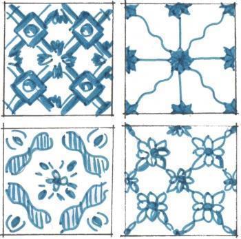 Geometria e fantasia per le piastrelle della cucina for Piastrelle cucina bianche quadrate