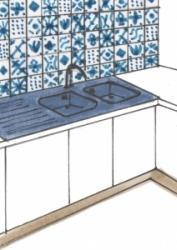 Azulejos in cucina - piastrelle decorate