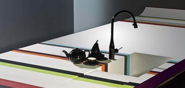 Materiali innovativi: Corian, kitchen Bayadere Arcachon