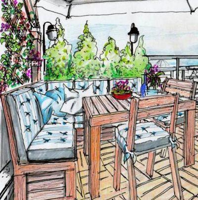 Terrazzo in mansarda for Salotto da terrazzo