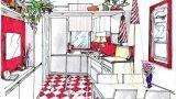 Cucina in rosso