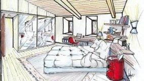 Camera matrimoniale in mansarda