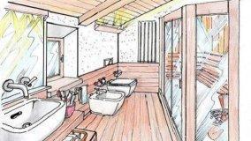 Sauna in mansarda