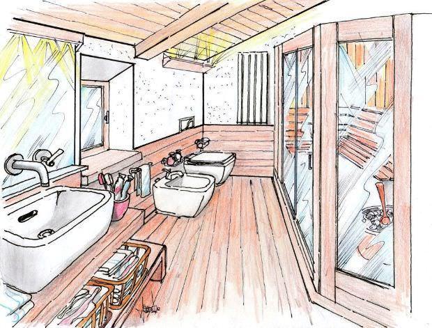 Sauna in mansarda - Disegno bagno peccioli ...