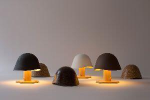 illuminazione in legno mush lamp
