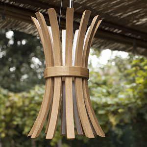illuminazione in legno filo lamp