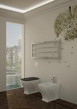 Scaldasalviette e radiatori di design - Termoarredo orizzontale bagno ...