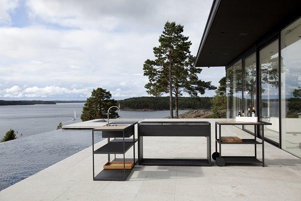 Piscina terrazza disegno : Nuove cucine per terrazzi e giardini: Roshults