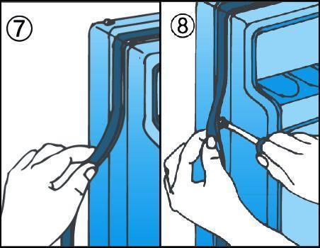 Manutenzione frigorifero e controllo guarnizione