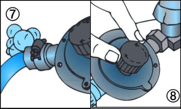 bombola del gas regolazione del flusso