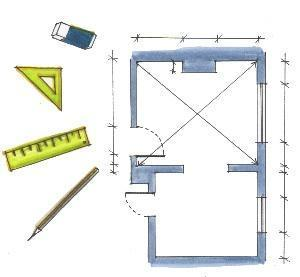 Rilievo e disegno di una stanza - Disegno pianta casa ...