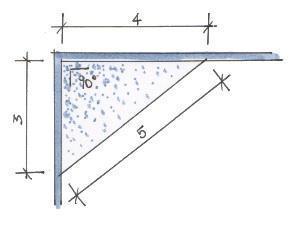 Rilievo di una stanza - teorema di pitagora