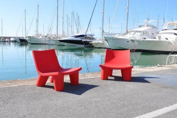sedia per outdoor LOW LITA, SLIDE