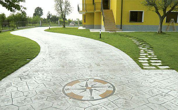 Pavimento Calcestruzzo Stampato : Realizzazione pavimento stampato in cemento sicilia trapani