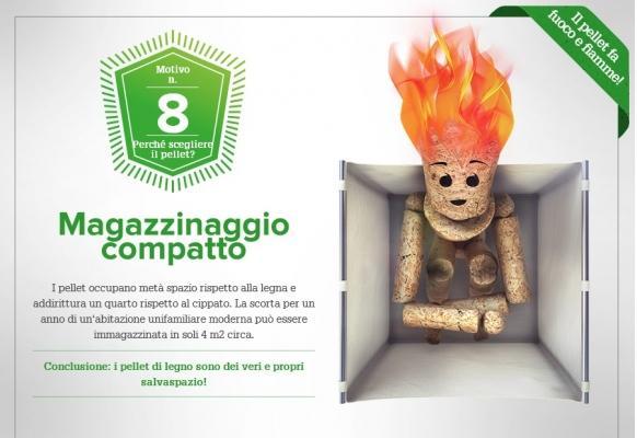 Caldaie a pellet: magazzinaggio compatto del pellet di OkoFEN Italia Srl