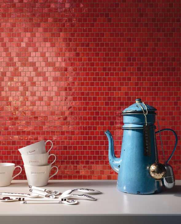 Mosaico decorativo ceramico per rivestire le pareti della cucina
