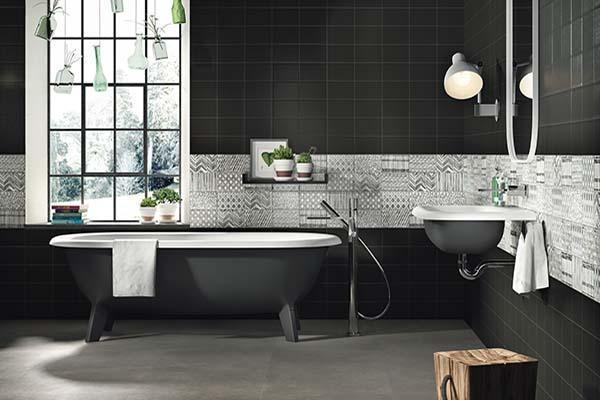 Ambientazione bagno: collezione Kiko di Imola Tiles full of Life