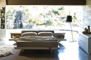 letto con comodino integrato zanette
