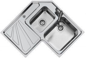 Cucine ad angolo, soluzioni: Foster, lavello angolare