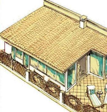 Terrazzo con solarium for Salotto da terrazzo