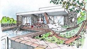 Villa con piscina e amaca