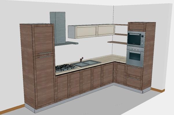 Forno a colonna: colonne frigo/forno ad inquadramento composizione