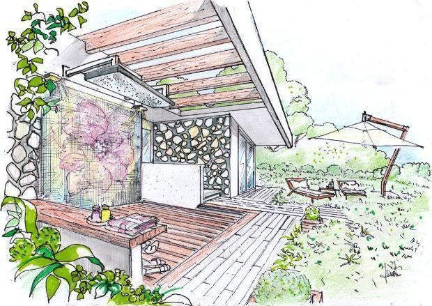 Doccia da giardino for Disegnare un giardino