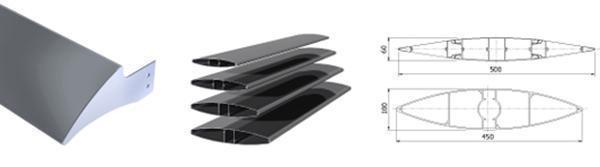 Le lamelle fisse oppure orientabili in alluminio che compongono i brise soleil della ditta Alufiero.