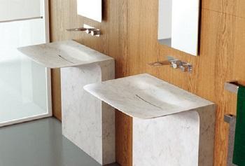Lavabi sinuosi in bagno: Teuco, Milestone